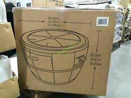 Wine Barrel Fire Pit Table by Global Outdoors 27 U2033 Wine Barrel Fire Table U2013 Costcochaser