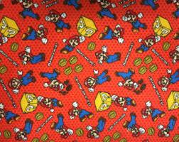 mario wrapping paper mario pillowcase etsy