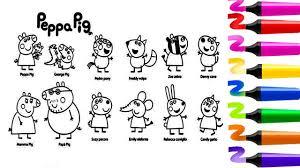 Dessin facile à colorier Coloriage Peppa Pig George Pedro Freddy
