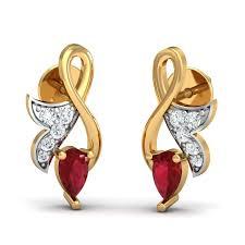 ruby stud earrings regal ruby stud earrings kuberbox