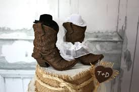 cowboy wedding cake toppers cowboy boots wedding cake topper rustic wedding western