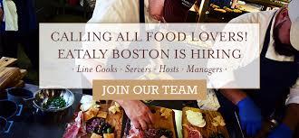 eataly boston is hiring eataly