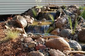 Waterfall Landscaping Ideas Triyae Com U003d Backyard Waterfalls Pictures Various Design