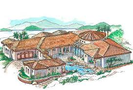 mediterranean house plans with courtyard mediterranean house plans e architectural design page 11
