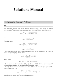 megson solution manual aircraft structures ch01 stress