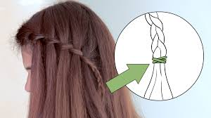 how to make a cascade waterfall braid 10 steps with pictures