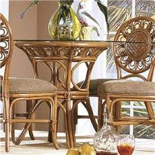 rattan kitchen furniture capris furniture 321 collection glass top wicker rattan table with