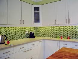 kitchen backsplash tile with white cabinets wooden cupboard purple