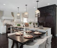 Unique Kitchen Island Lighting Interior Three Pendant Unique Kitchen Island Lighting With Black