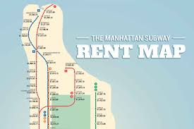 Manhattan Subway Map by The Manhattan Subway Rent Map Where You Can U0027t Afford To Live By