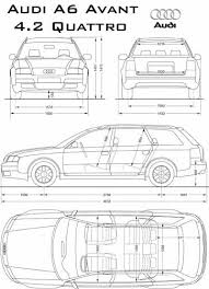 dimension audi a6 the blueprints com blueprints cars audi audi a6 quattro avant