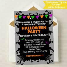 Halloween Birthday Invitation by Halloween Invitation Halloween Birthday Invitation