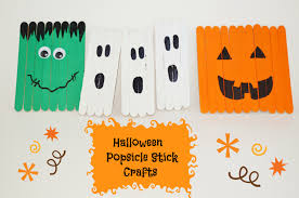 Halloween Pre K Crafts Halloween Decor Kid U0027s Popsicle Stick Crafts Surviving A