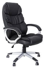 fauteuil bureau songmics noir chaise fauteuil de bureau chaise pour ordinateur