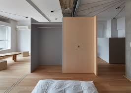 frontofficetokyo strips small apartment down to a single room