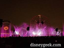 world of color season of light time for world of color season of light no fun wheel projections