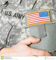 Military Flag Patch Usa Flag Shoulder Patch On Military Uniform Stock Image Image
