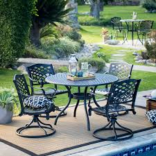 Patio Dining Set by Belham Living Charter Aluminum 5 Piece Patio Dining Set Hayneedle