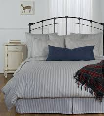 Navy Blue And Gray Bedding Ticking Stripe Duvet Cover Navy Blue Black Grey Brown