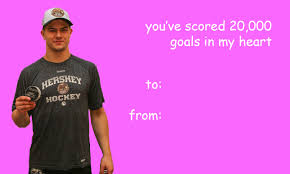 hockey valentines cards hershey bears themed s day cards
