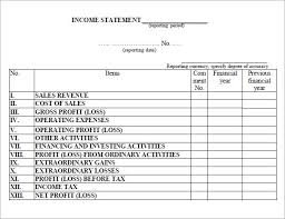 6 free income statement templates word excel sheet pdf