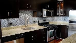 Black Kitchen Cabinets White Subway Tile White Subway Tile Kitchen Backsplash With Dark Cabinets
