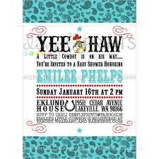 vintage cowboy printable baby shower invitation dimple prints shop