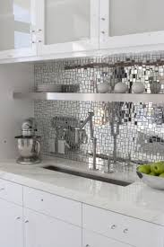 Metallic Kitchen Backsplash 341 Best Backsplashes Walls Images On Pinterest Tiles Home