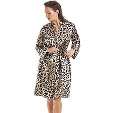 robe de chambre leopard robe de chambre en satin imprimé léopard femme 42 camille