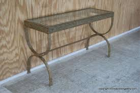 Metal Entry Table Amazing Metal Entry Table With Lot Bent Ornamental Metal Glass Top