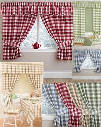 Green And White Gingham Curtains by Blue And Green Kitchen Curtains Ideas Better Homes Gardens Aqua