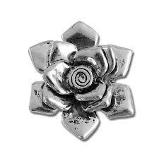 silver flowers pewter silver flower pendant w bail flowers
