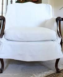 White Armchair Slipcover Armchair Slipcover U2013 Thistle Key Lane