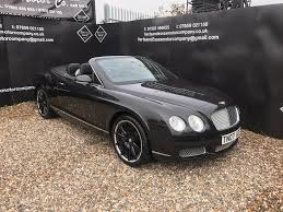 bentley black convertible used bentley continental convertible 6 0 gtc 2dr in hoddesdon