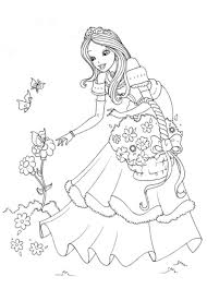 princess print coloring pages template size printable