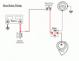 4 pin relay wiring diagram horn horn relay connection diagram in