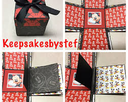 Mickey Mouse Photo Album Mickey Mouse Journal Etsy