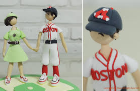 baseball cake topper themed clay wedding cake topper