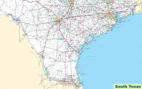 map of texa map of south