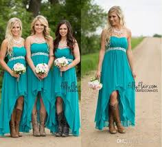country style bridesmaid dresses 2016 country style chiffon bridesmaid dresses modest