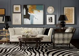 Zebra Floor Lamp Cool Open Living Room Design With Wooden Exposed Ceiling And Grey