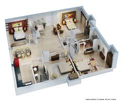 Floor Plan For Residential House Isometric Floor Plan Render In 3d On Behance