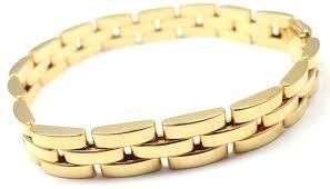box link bracelet images Cartier maillon panthere 3 row link gold bracelet at 1stdibs JPG