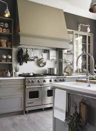 love this kitchen open shelves and sliding glass cabinets for