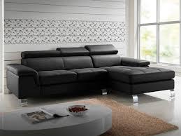 canapé angle noir canapé d angle cuir de vachette 5 coloris mishima