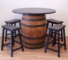 whiskey barrel bar table barrel table whiskey barrel table 42 tabletop 4 24 black bar