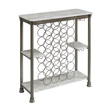 shop home styles orleans 28 bottle pale gray freestanding floor