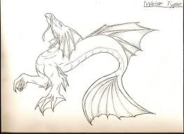 dragon sketches water type 2 by idoodle2draw on deviantart
