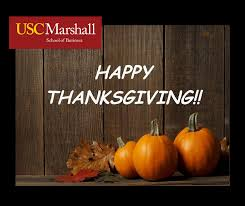 happy thanksgiving usc marshall school of business