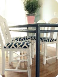 Blue Leather Dining Chairs by My House Of Giggles Finally A Little Diy Project White